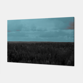 Forest and blue sky Canvas thumbnail image