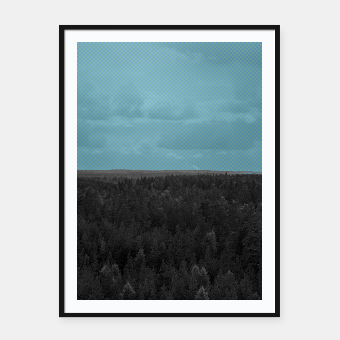 Image of Forest and blue sky Framed poster - Live Heroes