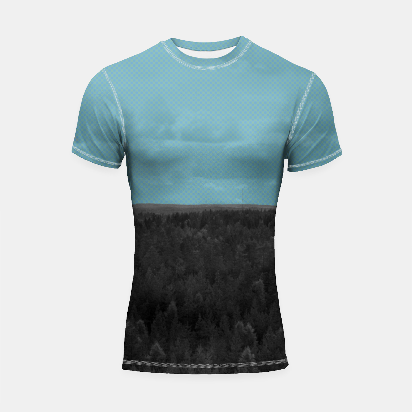 Image of Forest and blue sky Shortsleeve rashguard - Live Heroes