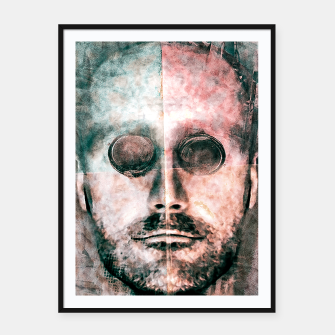 Thumbnail image of Cyborg Photo Manipulation Portrait Framed poster, Live Heroes
