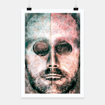 Thumbnail image of Cyborg Photo Manipulation Portrait Poster, Live Heroes