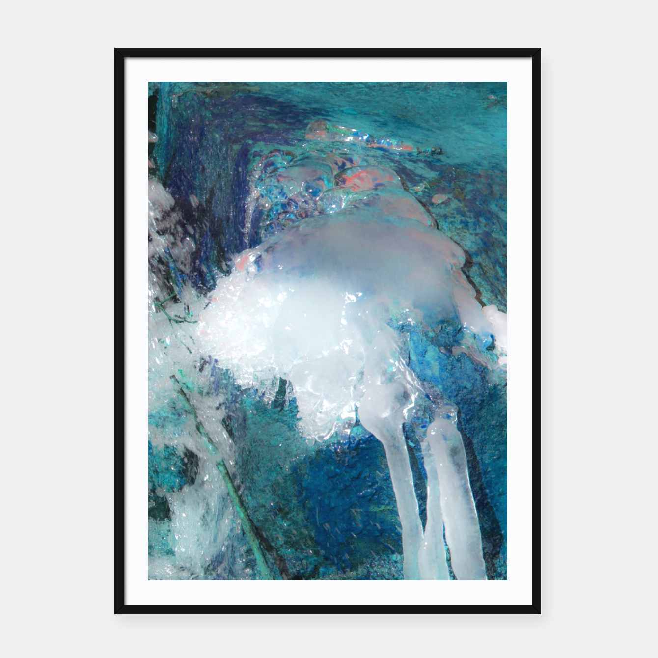 Image of Ice water Framed poster - Live Heroes