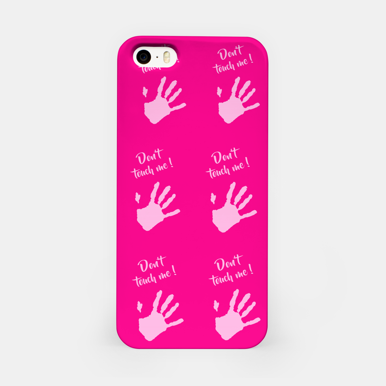 Image of Don't touch me! iPhone Case - Live Heroes