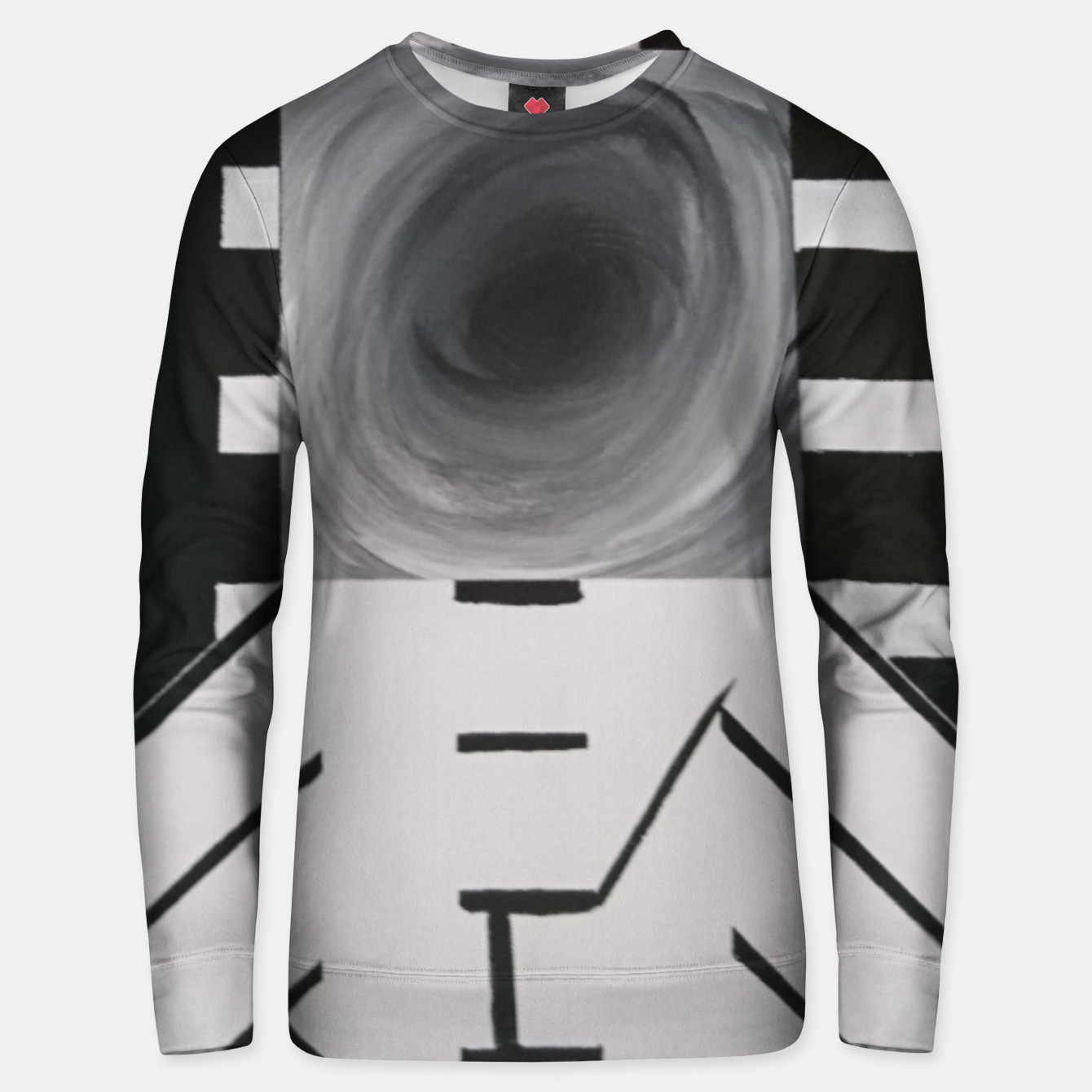 Image of alb si negru Unisex sweater - Live Heroes