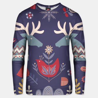 REINDEER AND FLOWERS Unisex sweater Bild der Miniatur