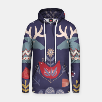 REINDEER AND FLOWERS Hoodie thumbnail image