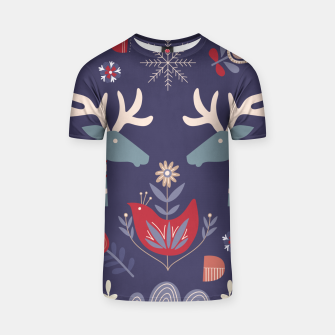 REINDEER AND FLOWERS T-shirt Bild der Miniatur