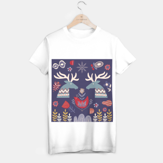 REINDEER AND FLOWERS T-shirt regular Bild der Miniatur