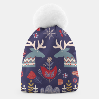 REINDEER AND FLOWERS Beanie thumbnail image