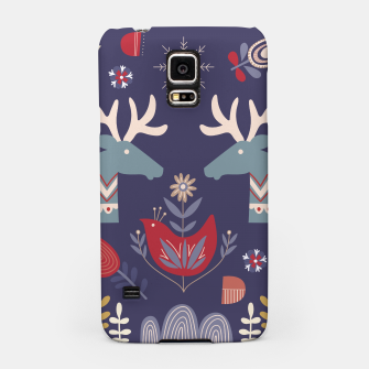 REINDEER AND FLOWERS Samsung Case Bild der Miniatur
