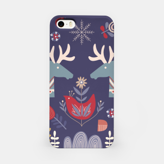 REINDEER AND FLOWERS iPhone Case Bild der Miniatur