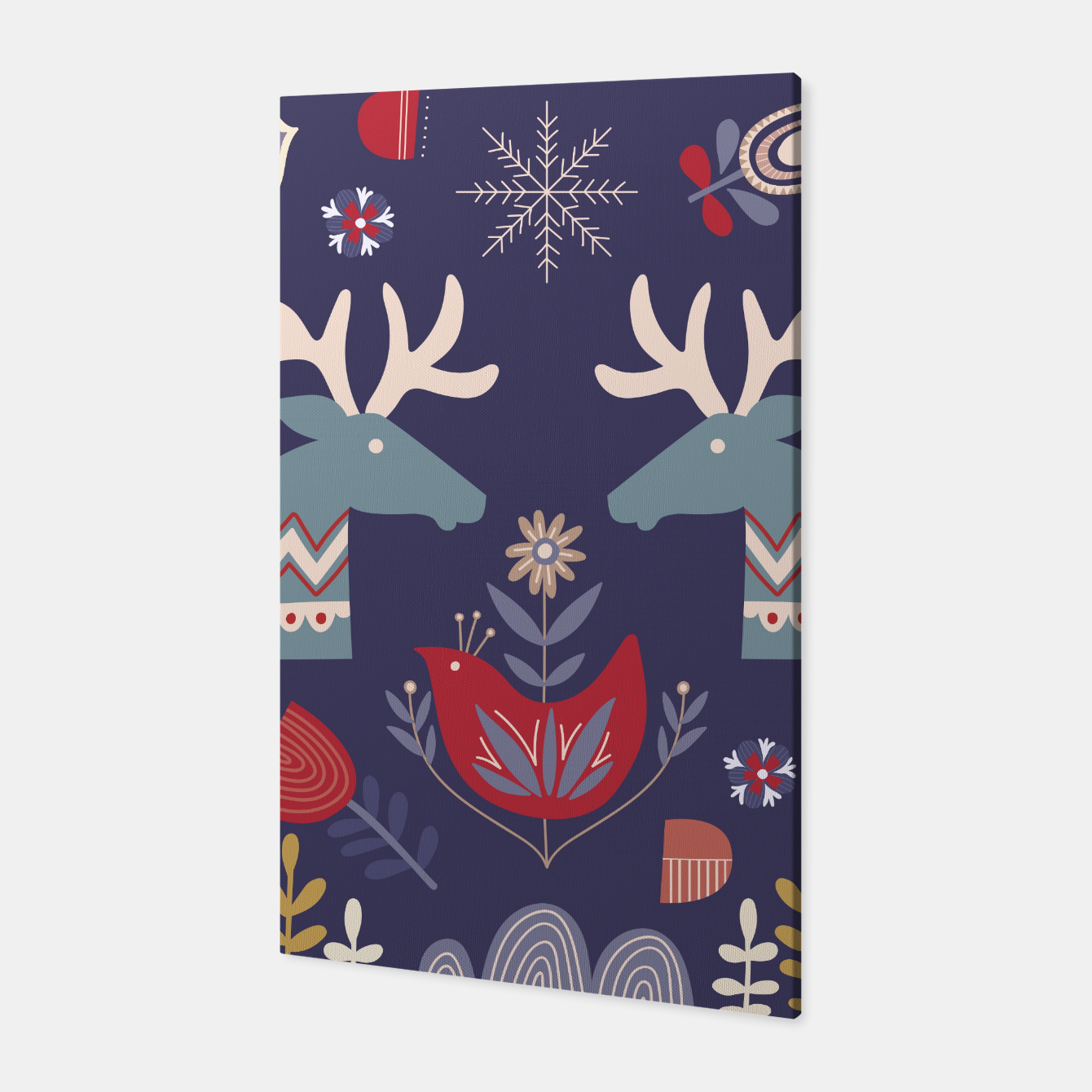 Foto REINDEER AND FLOWERS Canvas - Live Heroes