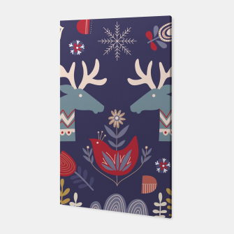 REINDEER AND FLOWERS Canvas thumbnail image