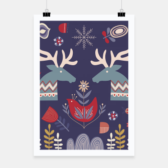 REINDEER AND FLOWERS Poster thumbnail image