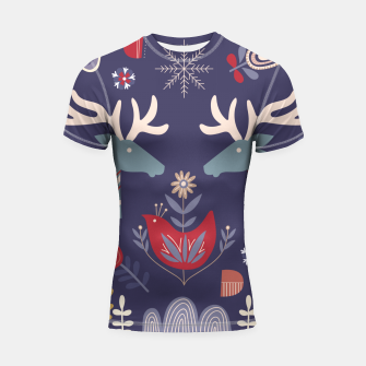 REINDEER AND FLOWERS Shortsleeve rashguard thumbnail image