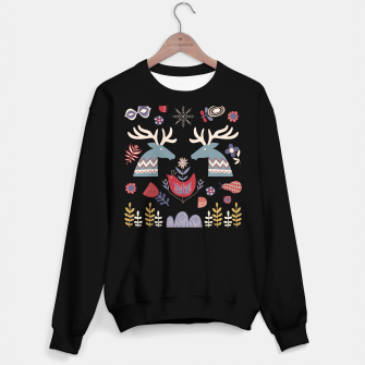 Miniatur REINDEER AND FLOWERS Sweater regular, Live Heroes