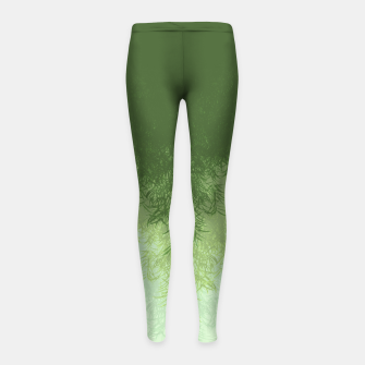 Thumbnail image of Willow ( Green ) Girl's leggings, Live Heroes