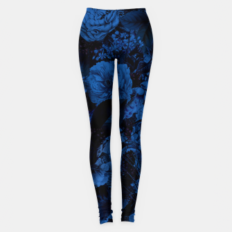 Miniaturka winter flowers seamless pattern 01 big dark blue Leggings, Live Heroes