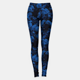 Miniaturka winter flowers seamless pattern 01 small dark blue Leggings, Live Heroes