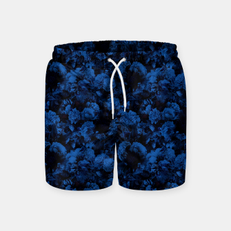 winter flowers seamless pattern 01 small dark blue Swim Shorts thumbnail image
