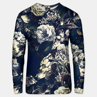 winter flowers seamless pattern 01 big foggy night Unisex sweater thumbnail image