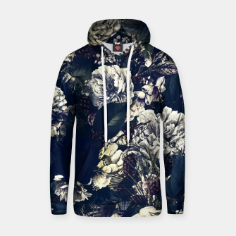 winter flowers seamless pattern 01 big foggy night Hoodie thumbnail image