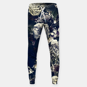 winter flowers seamless pattern 01 big foggy night Sweatpants thumbnail image