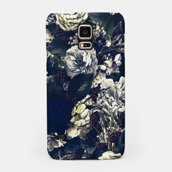 winter flowers seamless pattern 01 big foggy night Samsung Case thumbnail image