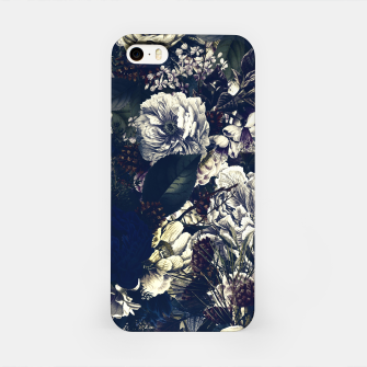 winter flowers seamless pattern 01 big foggy night iPhone Case thumbnail image