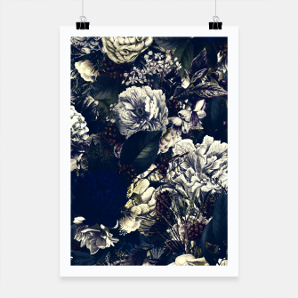 winter flowers seamless pattern 01 big foggy night Poster thumbnail image