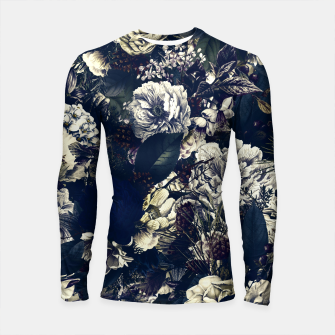 winter flowers seamless pattern 01 big foggy night Longsleeve rashguard  thumbnail image