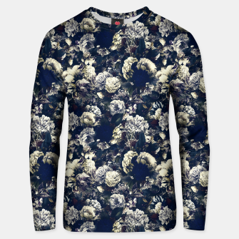 winter flowers seamless pattern 01 small foggy night Unisex sweater thumbnail image