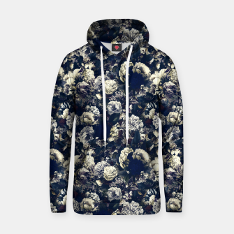 winter flowers seamless pattern 01 small foggy night Hoodie thumbnail image