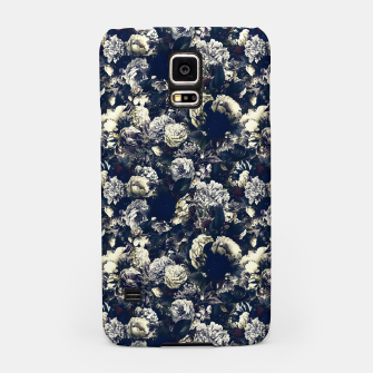 winter flowers seamless pattern 01 small foggy night Samsung Case thumbnail image