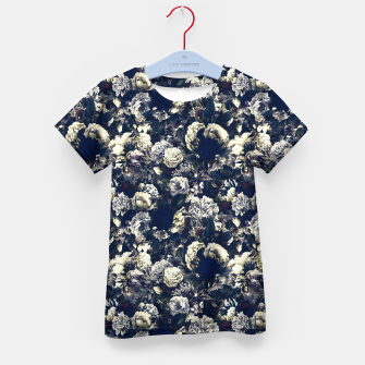 winter flowers seamless pattern 01 small foggy night Kid's t-shirt thumbnail image