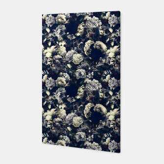 winter flowers seamless pattern 01 small foggy night Canvas thumbnail image