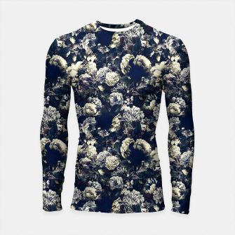 winter flowers seamless pattern 01 small foggy night Longsleeve rashguard  thumbnail image