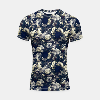 winter flowers seamless pattern 01 small foggy night Shortsleeve rashguard thumbnail image