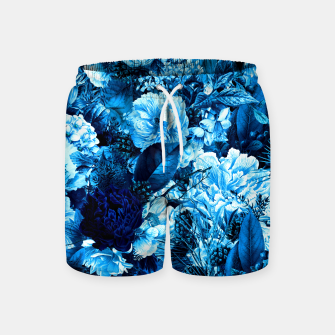 winter flowers seamless pattern 01 big icy blue Swim Shorts thumbnail image