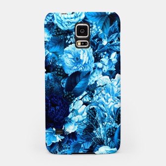 winter flowers seamless pattern 01 big icy blue Samsung Case thumbnail image