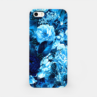winter flowers seamless pattern 01 big icy blue iPhone Case thumbnail image