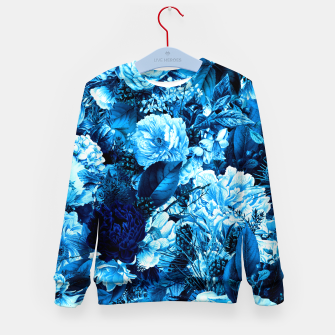 winter flowers seamless pattern 01 big icy blue Kid's sweater thumbnail image