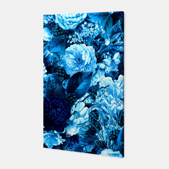 winter flowers seamless pattern 01 big icy blue Canvas thumbnail image