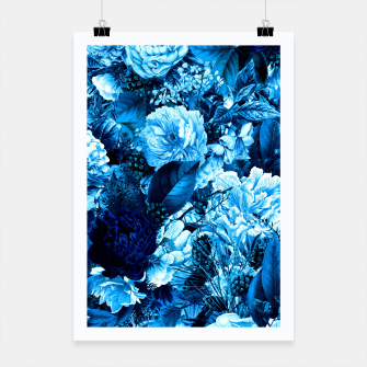 winter flowers seamless pattern 01 big icy blue Poster thumbnail image