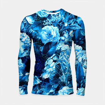 winter flowers seamless pattern 01 big icy blue Longsleeve rashguard  thumbnail image