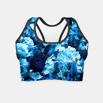 winter flowers seamless pattern 01 big icy blue Crop Top thumbnail image