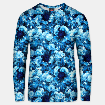 winter flowers seamless pattern 01 small icy blue Unisex sweater thumbnail image