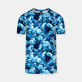 winter flowers seamless pattern 01 small icy blue T-shirt thumbnail image