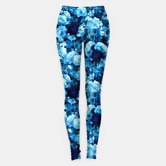 Miniaturka winter flowers seamless pattern 01 small icy blue Leggings, Live Heroes