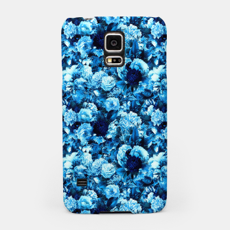 winter flowers seamless pattern 01 small icy blue Samsung Case thumbnail image